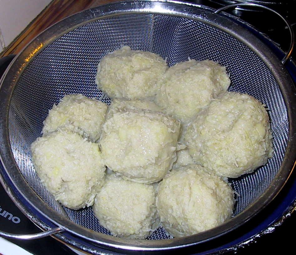Bayrische Kartoffelknödel